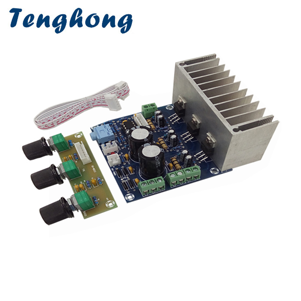 Tenghong TDA2030A Power Amplifier Board 20W*2+30W 2.1 Subwoofer Audio Sound Amplifiers Bookshelf Speaker AMP With Preamp Board