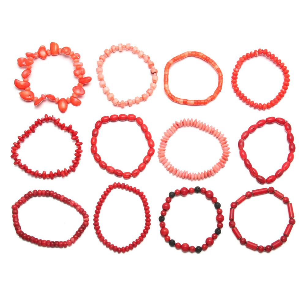 New coral beads bracelet ladies jewelry making DIY exquisite birthday gift multi-style length 18-19cm
