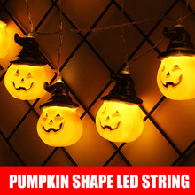 Halloween Pumpkin Stringlight Remote Control Lantern LED Decorative Lights 8 different lighting modes by 3*AA batteries