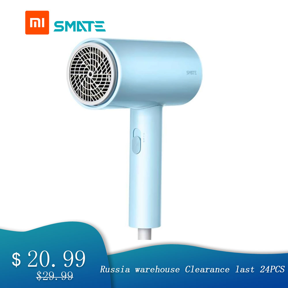 For Xiaomi Electric Hair Dryer 1800W Hair Dryer 3 Gears Negative Ions Dual layer Air Intake Net Overheating Quick dryingElectric Shavers   -
