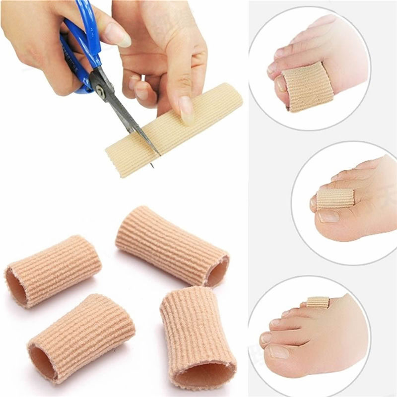 Fabric Gel Silicone Tube Bunion Toes Fingers Separator Divider Protector Corns Calluses Finger Corrector Feet Corrector Insoles