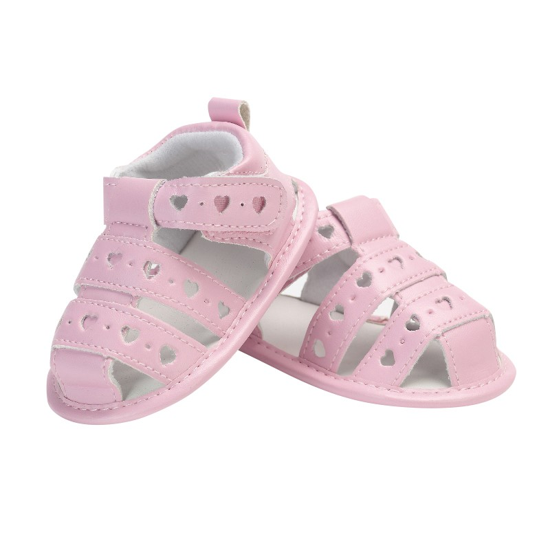 Baby Girl Sandals Baby Shoes Summer Hollow Love Rubber Sandals Newborn Baby Shoes For 0-12 Months Baby 2020