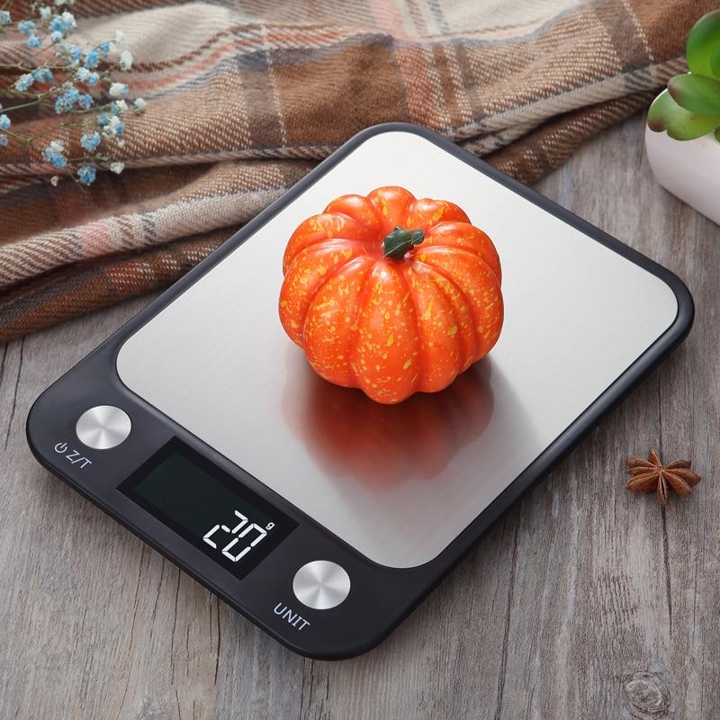 ميزان المطبخ الرقمي خصوصية 10 كجم/1g الفولاذ المقاوم للصدأ وزنها ميزان إلكتروني البريدي أدوات قياس الوزن التوازن