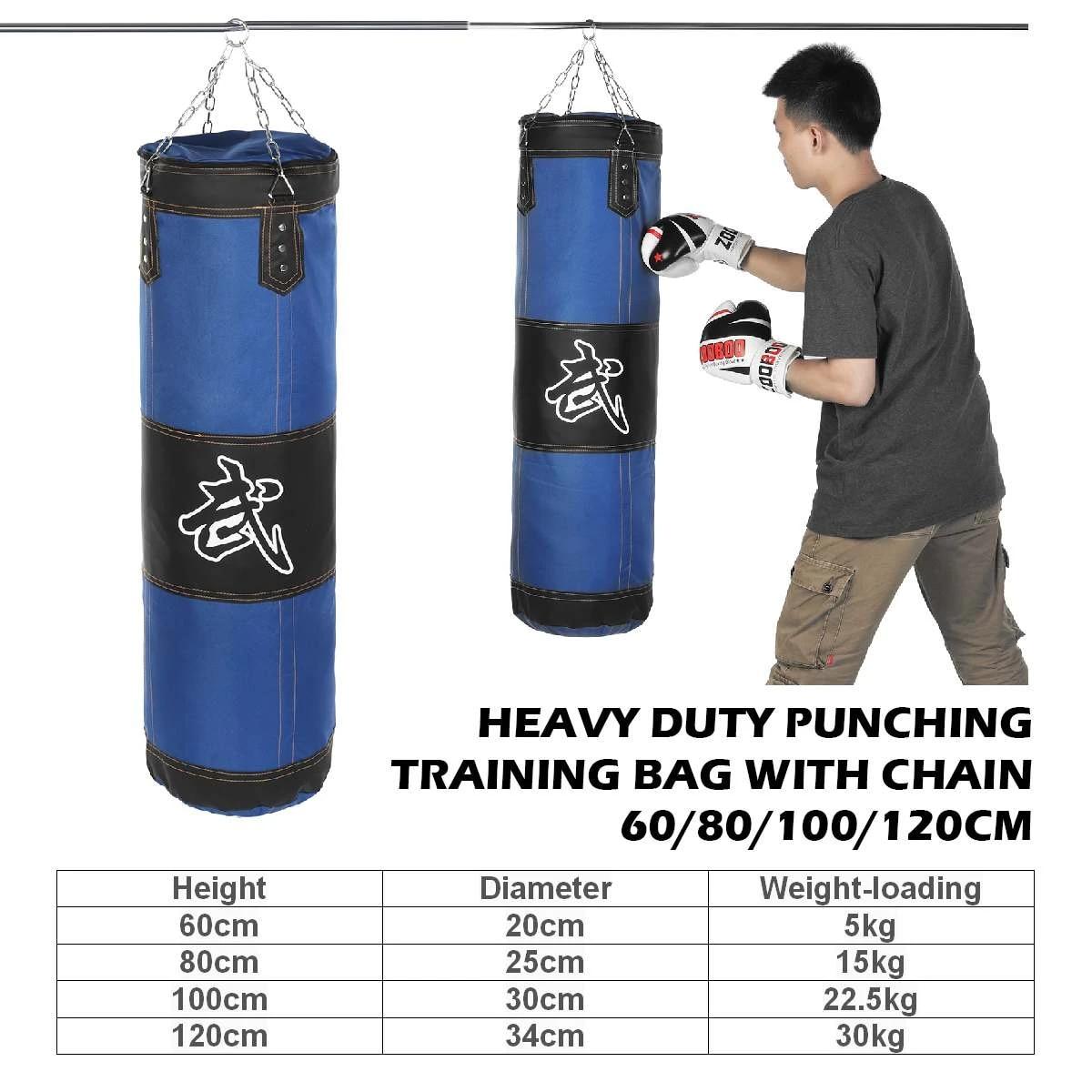 Punch Sandbag,Empty Training Boxing Hook Kick Sandbag Fight Karate Punch Punching Sand Bag Sandbag green-100cm