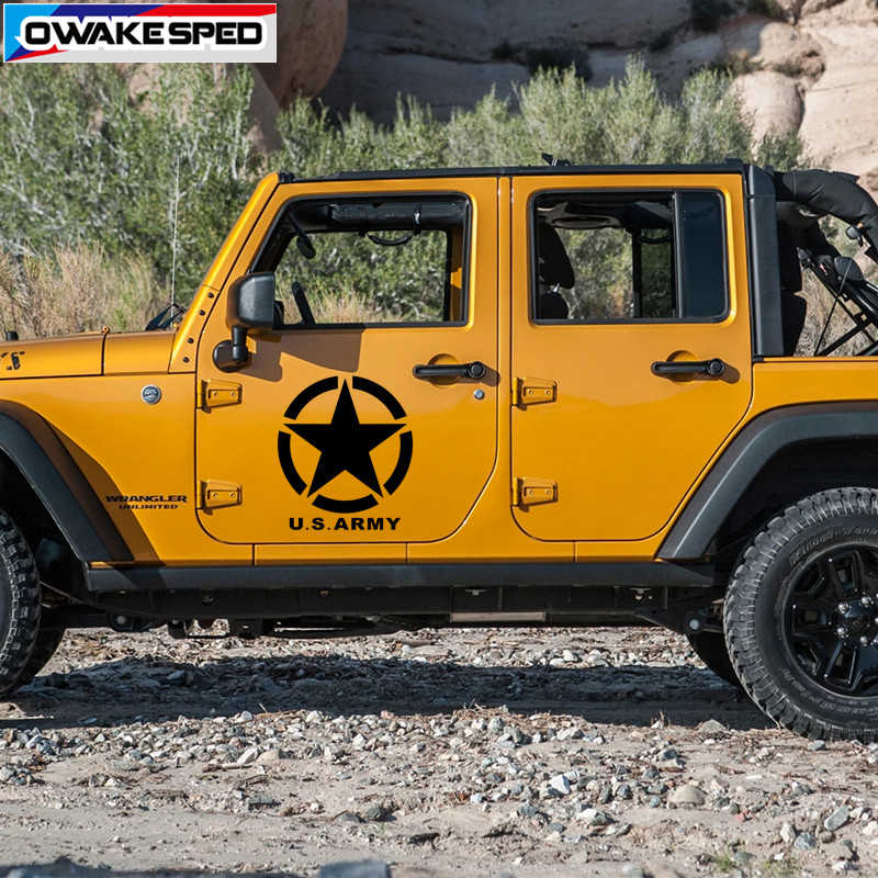 Distressed Star American Military Army  car jeep 4x4 Offroad vinyl Decal Sticker