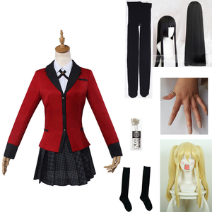 Kakegurui Yumeko Jabami Saotome Meari японская школьная форма для девочек Карнавальный костюм