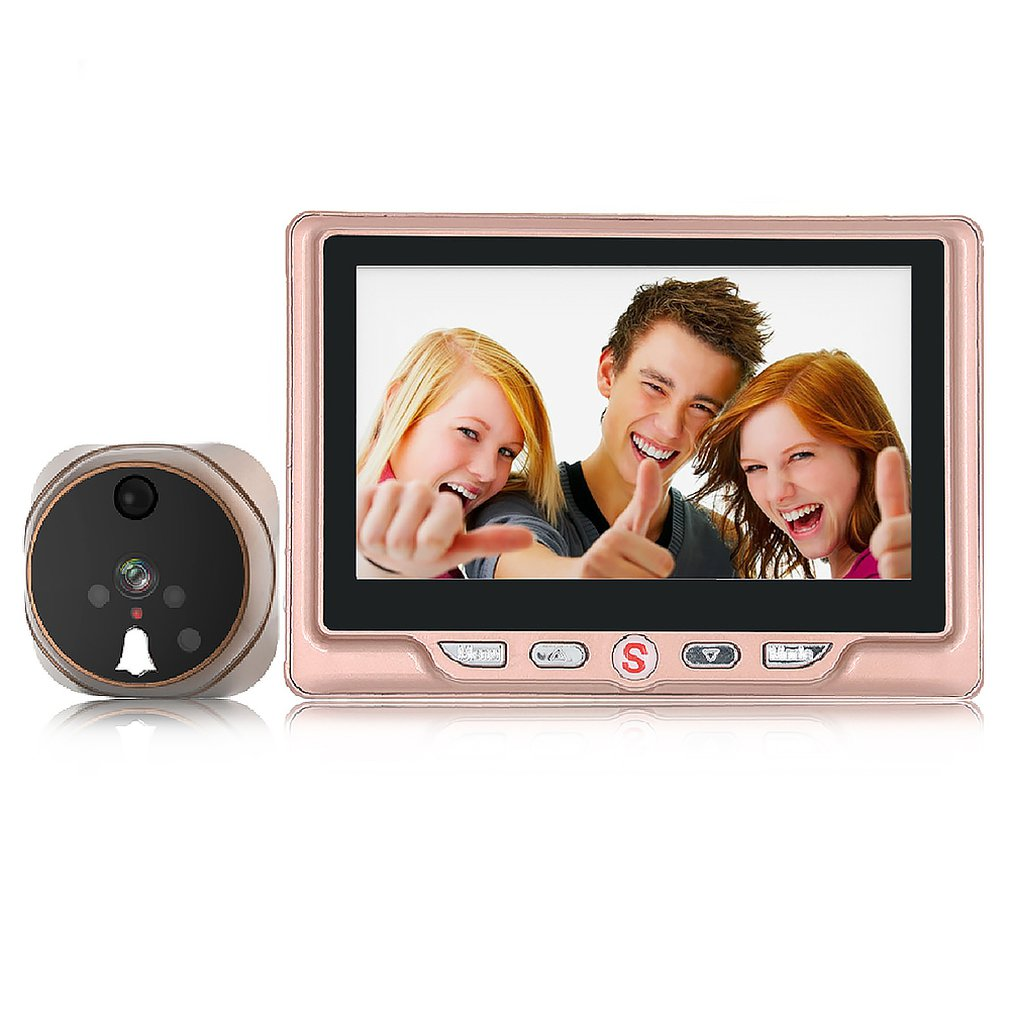 4.3 Inch High-definition Large-screen Smart Electronic Cat Eye Motion Detection Camera Video Doorbell