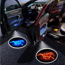 2pcs Universal LED Car Door Welcome light Wireless Projector lamp Shadow light Car Atmosphere Decorative Lights Car Accessories