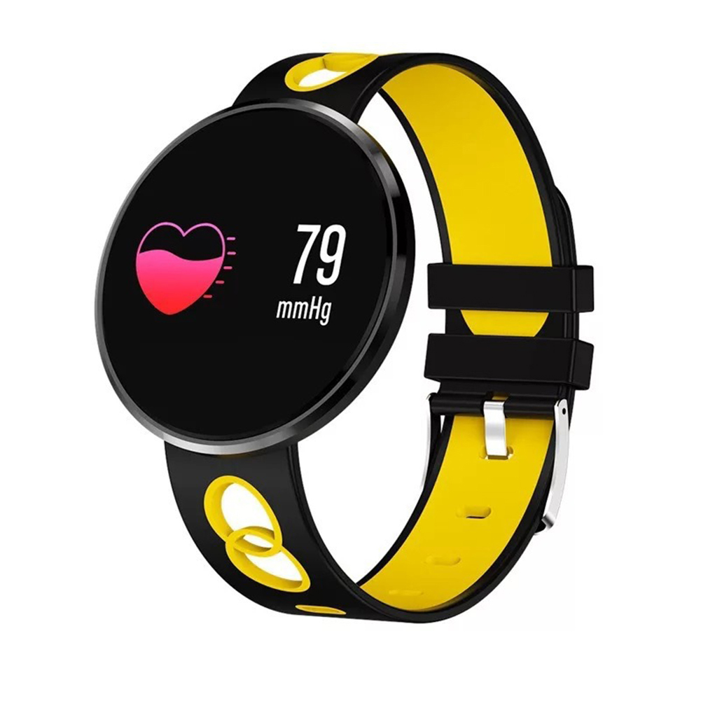 New Arrival Waterproof Fitness Tracker Heart Rate Blood Pressure Smart Watch for iOS Android Waterproof Fitness Tracker Heart Ra in Smart Wristbands from Consumer Electronics
