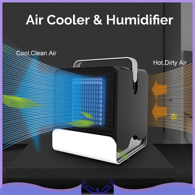 USB Mini Air Cooler Air Conditioning Fan Desktop Air Conditioning Humidifier Arctic Unit Fan Low Noise Home Cooler Cold Water