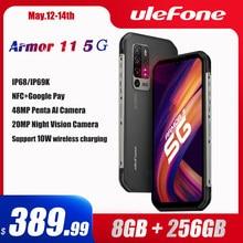 Ulefone – Smartphone Armor 11, téléphone portable robuste 5G, Android 10, 8 go + 256 go, étanche, 48mp, NFC, charge sans fil