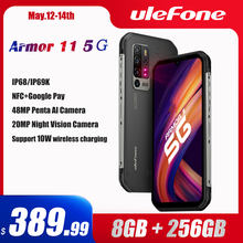 Ulefone Armor 11 5G Rugged 256GB 8GB GSM/LTE/WCDMA/.. NFC Adaptive Fast Charge Wireless Charging