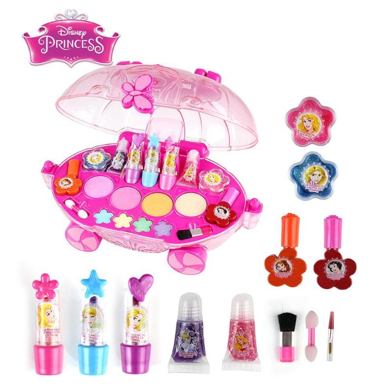 Girl Makeup Toys Parent-Child Play House Toys Lipsticks Lip Gloss Nail Polish Makeup Brushes Cosmetic Toy Suit