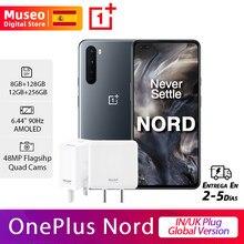 OnePlus Nord, IN/UK Versión global, 8GB/12GB RAM 128GB/256GB ROM, Snapdragon 765G 5G móvil, 6.44'' 90Hz AMOLED, 48MP Quad Cámara 30W NFC