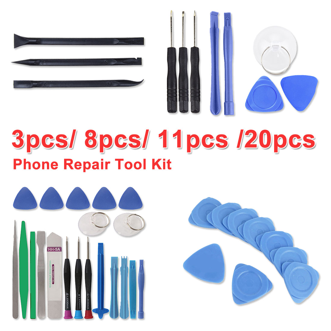 8 In 1/11 In 1/20 In 1/3pcs Mobile Phone Repair Tools Kit Spudger Pry Opening Tool Screwdriver Set For Phone Hand Tools Set