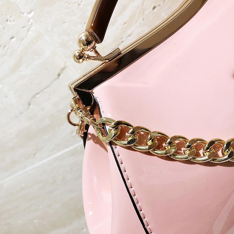 couro feminino alça superior sacos quadro ferrolho