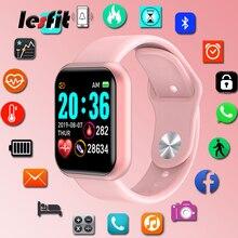 Lesfit Y68 Waterproof Pink Digital Smart Watches Women Smart