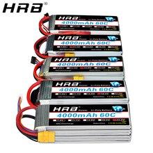 HRB 3S 4S 4000MAh Pin Lipo 14.8V 7.4V 11.1V Trưởng Khoa XT60 T 5S 6S 2S 22.2V 18.5V 1S RC FPV Máy Bay Không Người Lái Xe Tải Xe 60C Phần