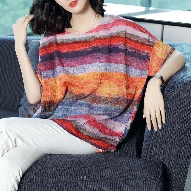 casual elegance, striped top drop sleeve  2