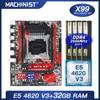 X99 motherboard LGA 2011-3 set kit with Intel xeon E5 4620 V3 processor DDR4 32GB(4*8GB) 2666mhz RAM memory M-ATX X99-RS9 1