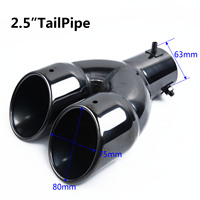 Universal Stainless Steel Dual Exhaust Pipes  Y-Pipe Piece Adapter Vehicle Parts