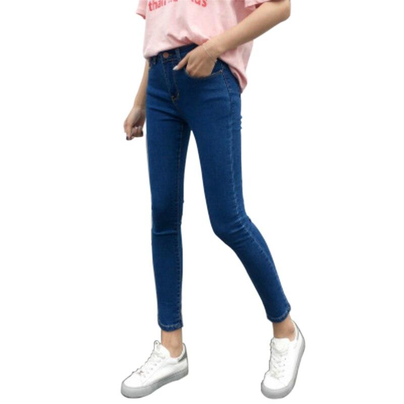Pantalones Vaqueros Ajustados De Cintura Alta Para Mujer Pantalones Tobilleros De Tubo Ajustados Vaquero Elastico Mallas Pantalones Vaqueros Aliexpress