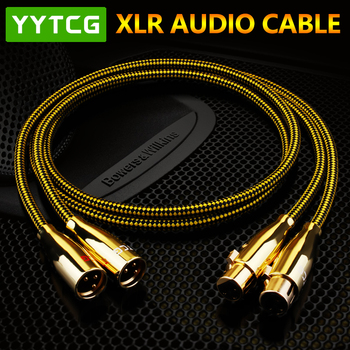 YYTCG Hifi kabel XLR wysokiej czystości OCC 2XLR kabel męski na żeński do połączenia z mikrofonem multimediami dźwiękiem wzmacniaczem tanie i dobre opinie XLR (3-pin) Męski-żeński Rohs T3-2XLR CN (pochodzenie) Przedłużacz audio Pakiet 1 PLASTIKOWA TOREBKA PLECIONY Brak