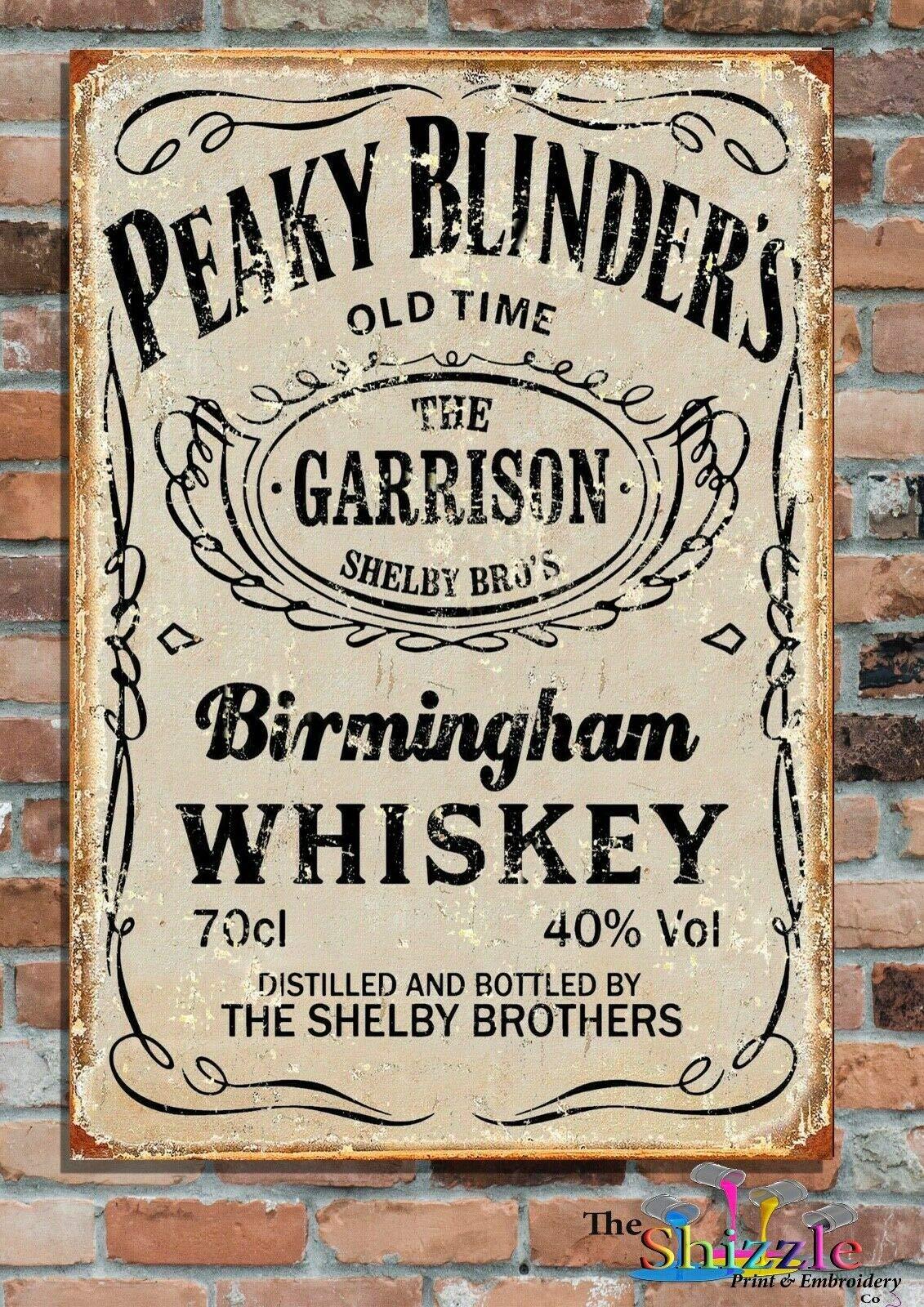 Garrison Peaky Blinders виски на заказ Старые Металлические Рекламные Знаки-2 размера Ретро настенный домашний бар паб винтажный Декор для кафе, 8x12 дюй...