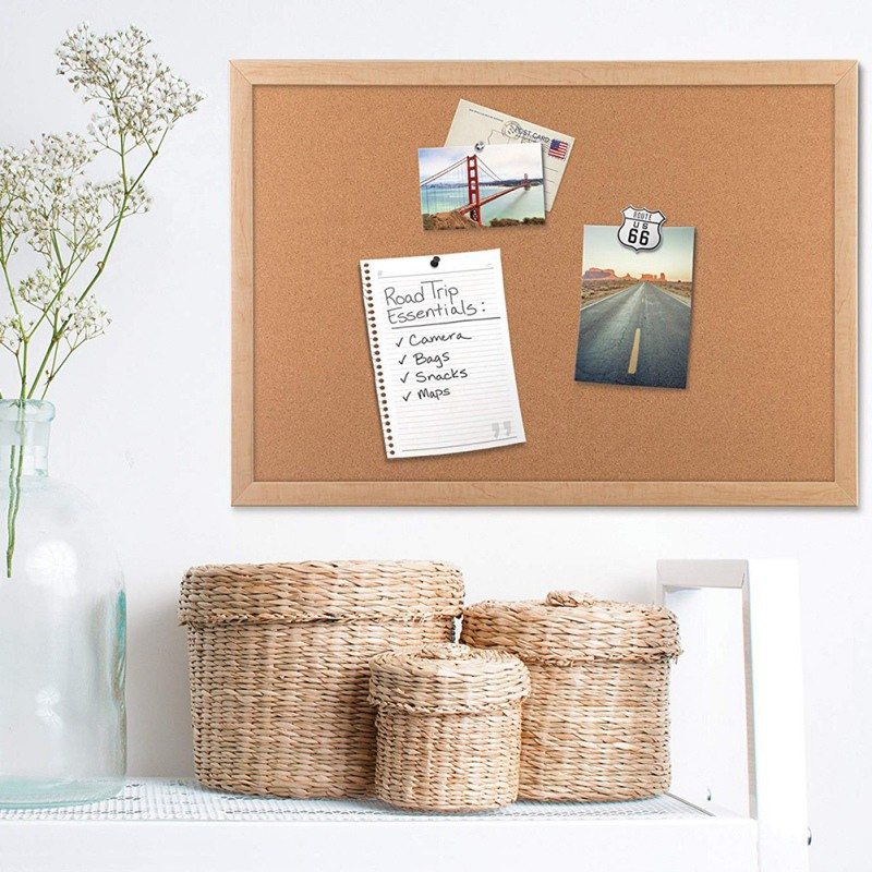 Decorative Board With Frame Cork Board Message Board Household Photo Wall Background Board Placas Decorativas Home Decoration