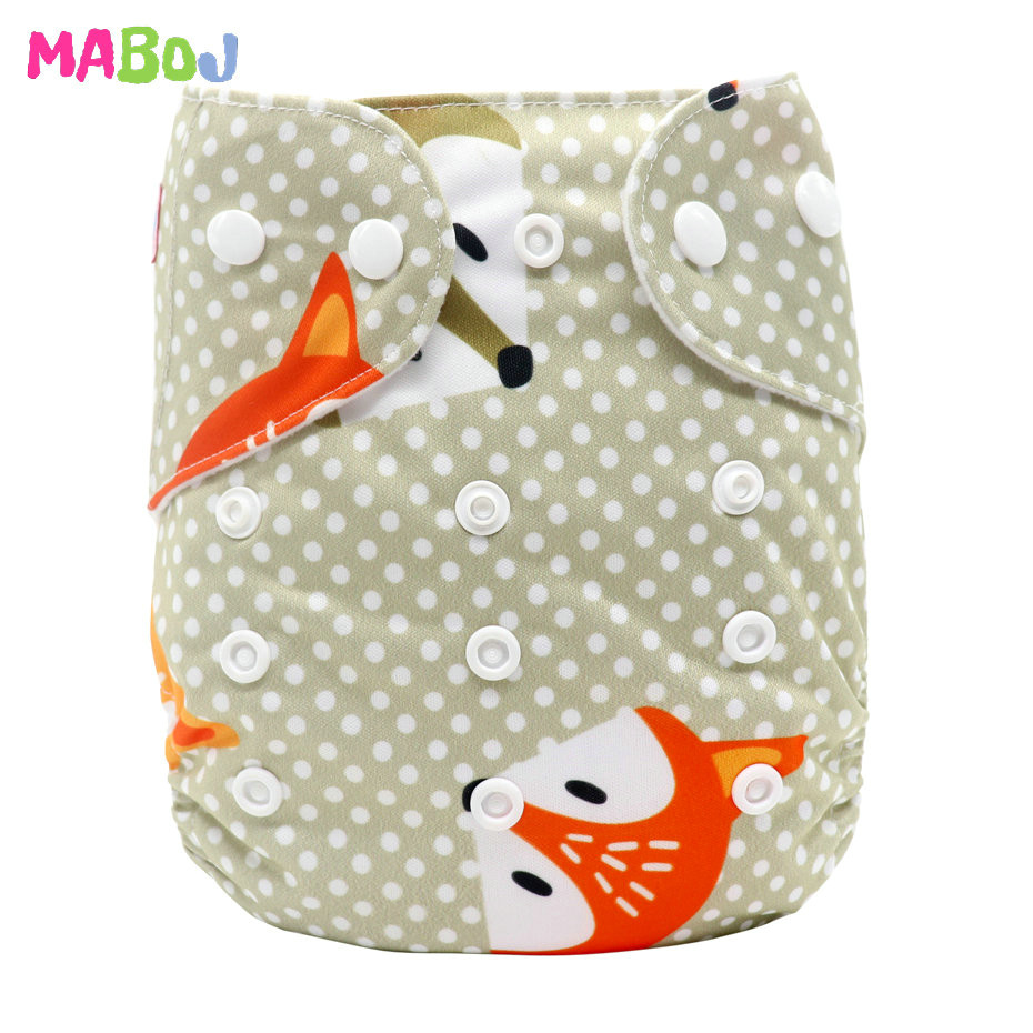 MABOJ Diaper Baby Pocket Diaper Washable Cloth Diapers Reusable Nappies Cover Newborn Waterproof Girl Boy Bebe Nappy Wholesale - Цвет: PD5-5-28