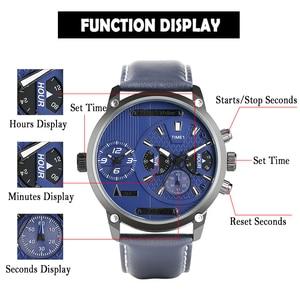Image 5 - Keller & Weber Mens Watches Luxury Brand Famous Unique Designer Genuine Leather Quartz Wrist Watch Men Clock Man Reloj Hombre
