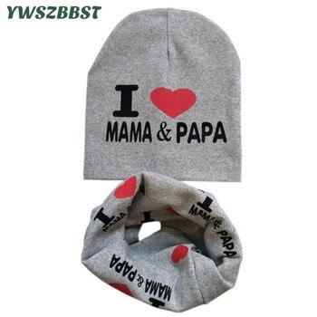 New Baby Hat Set Boys Girls Neck Scarf Autumn Winter Warm Neckerchief Kids Beanies Sets Cotton Children Hat Scarf