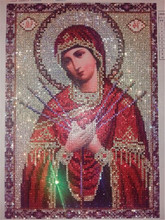 diamond embroidery Religious  mary painting mosaic beadwork pictures Rhinestones cross stitch for gift