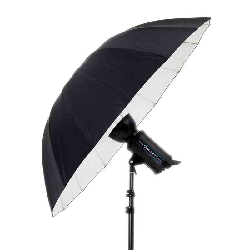 "Godox 180cm 75"" Inch Photography studio umbrella extra-large reflective umbrella Silver Reflective Umbrella ,Black+Silver"