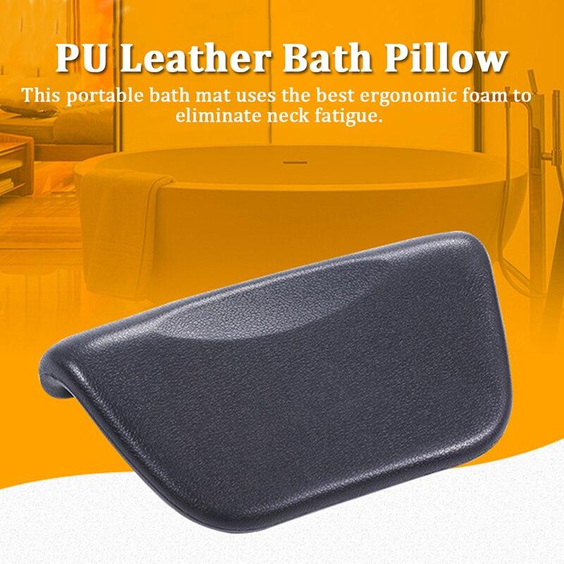 Spa Bath Pillow Cushioned Bath Tub Spa Pillow Bathtub Head Rest Pillow With Non-Slip Suction Cups For Neck Back Bathroom Tools