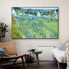 Van Gogh Vineyards with a View of Auvers Oil Painting on Canvas Posters and Prints Cuadros Wall Art Pictures For Living Room van gogh starry night oil painting on canvas posters and prints cuadros wall art decorative pictures for living room home decor