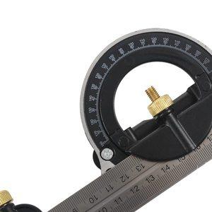 Image 4 - Комбинированный квадратный набор угловой искатель и транспортир спиртовой уровень алюминиевый сплав линейка Mitre