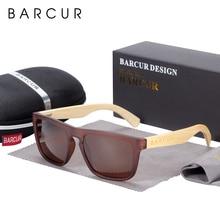 Barcur óculos de sol de bambu polarizados para homem mulher óculos de sol de madeira lunette de soleil femme