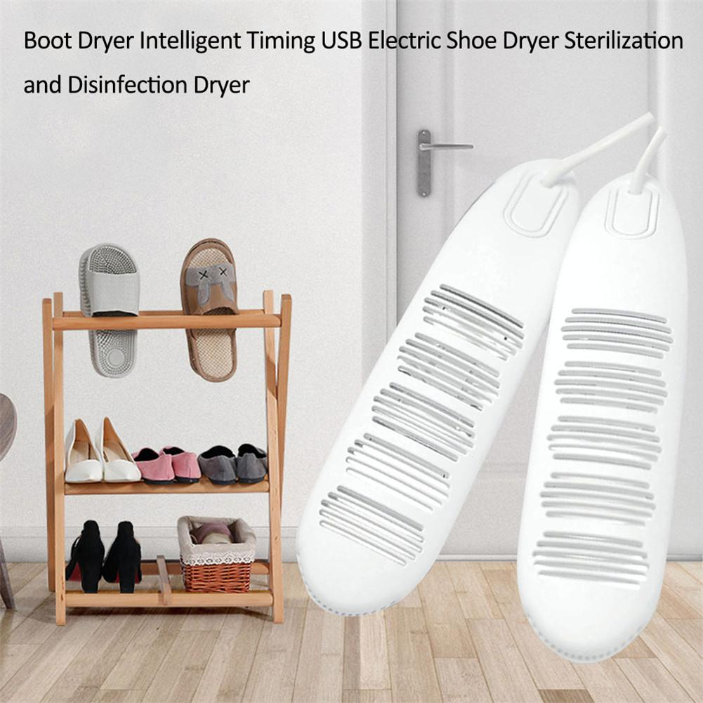 Portable Usb Shoe Dryer Intelligent Timing Electric Boot Dryer Sterilization Disinfection Foot Protector Device Shoes Heater