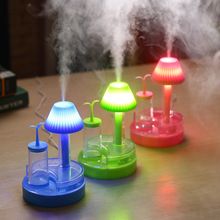Humidifier USB Creative Green  Aromatherapy LED Night Light Mini Air Humidifier Desktop Mute Beauty Mini Fog Machine