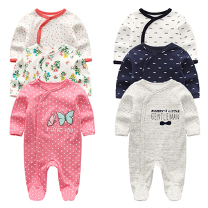2019 Baby Girl Clothes Long Sleeve 1/2/3PCS Winter Clothing Sets 0-12M Cotton Baby Boy Clothes Newborn Overalls Roupa de bebe(China)