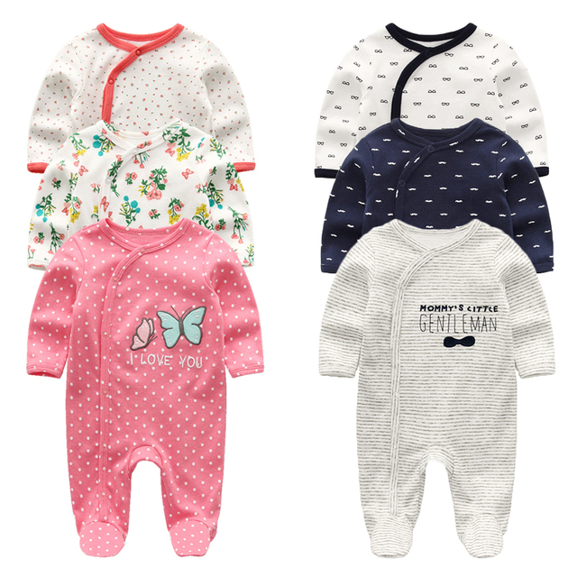 2021 Baby Girl Clothes Long Sleeve 1/2/3PCS Winter Clothing Sets 0-12M Cotton Baby Boy Clothes Newborn Overalls Roupa de bebe