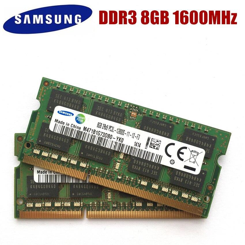 Память Samsung 8GB PC3 PC3L-12800S 10600S DDR3 1333 1600 Mhz 8gb DDR3L 8G PC3L 12800S 1600 MHZ модуль для ноутбука SODIMM RAM