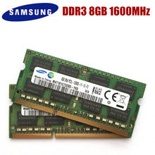 Module RAM pour ordinateur portable, de marque Samsung avec un mémoire de 8GB, PC3, PC3L-12800S, 10600S ,DDR3, 1333 ,1600 Mhz, SODIMM RAM,