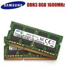Samsung 8GB PC3 PC3L 12800S 10600S DDR3 1333 1600 Mhz 8gb dizüstü bellek DDR3L 8G PC3L 12800S 1600 MHZ dizüstü modülü SODIMM RAM