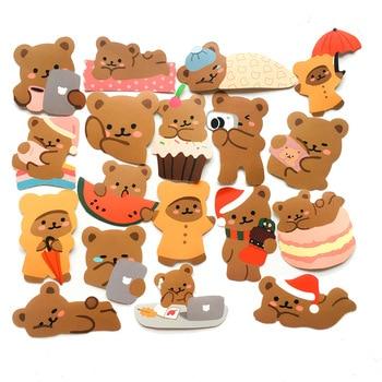 60pcs/pack Cute Lazy Bear Stickers Scrapbooking Decorative Sticker Korean Diy Diary Album Stick Label Kawaii Stationery uni t ut281a true rms ac 3000a flexible clamp ammeter multipurpose table backlight auto shutdown