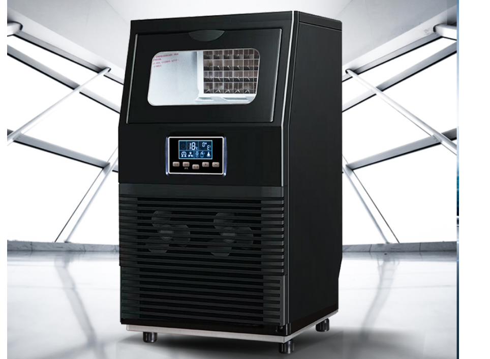 Electric Square Shape Ice Maker Automatic Portable Block Ice Cube Making Machine For Bar Coffee Shop 40kg/24H WZB-40F/A 200W