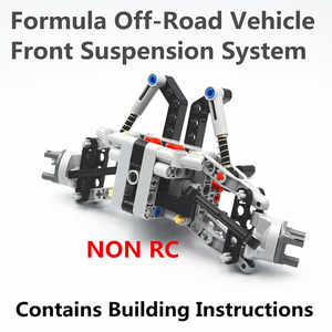 Image 2 - Bloki konstrukcyjne MOC Technic części formuła Off Road z przodu pojazdu System zawieszenia kompatybilne z lego dla dzieci chłopców zabawki