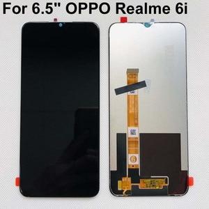 Image 1 - ต้นฉบับที่ดีที่สุดสำหรับ OPPO Realme 6I จอแสดงผล LCD หน้าจอสัมผัส Digitizer ASSEMBLY สำหรับ OPPO Realme 5I 5S C3 เซนเซอร์หน้าจอ LCD