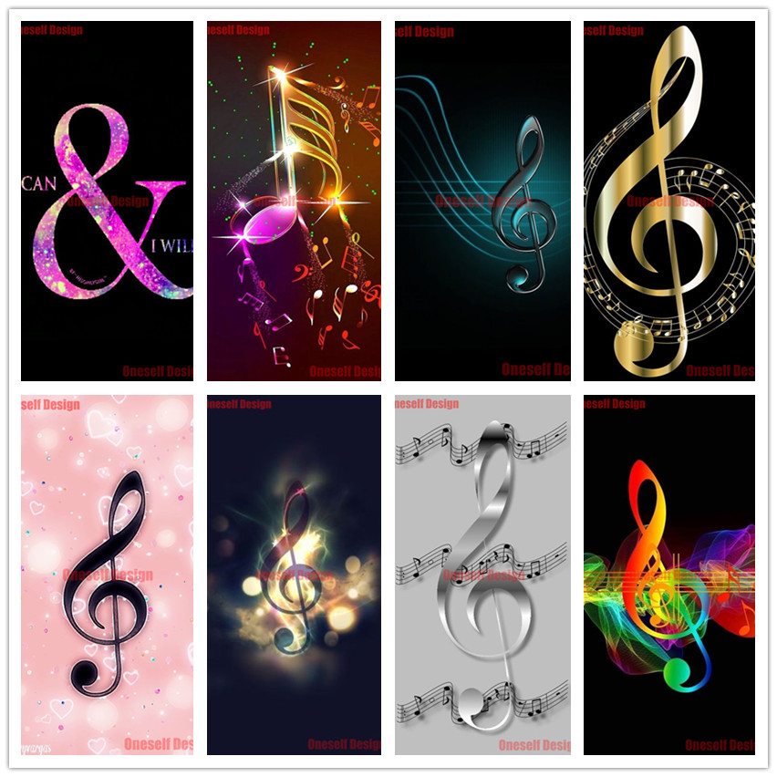 2020 new music note 5d diamond painting full diy diamond embroidery cross stitch music note decoration home rhinestone pictures image